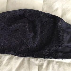 Black lace strapless bra Olga 34D